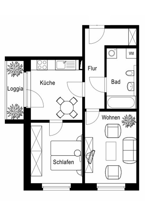 Raum Wohnung Leipzig